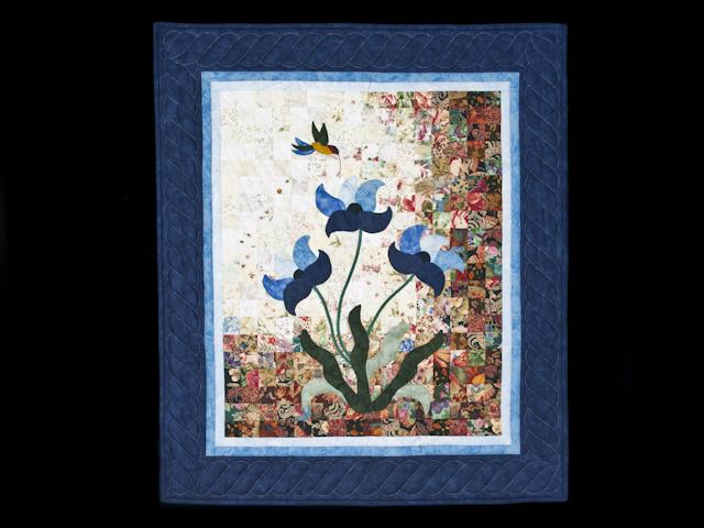 Morning Splendor Watercolor Wall Hanging Beautiful Blues Photo 1
