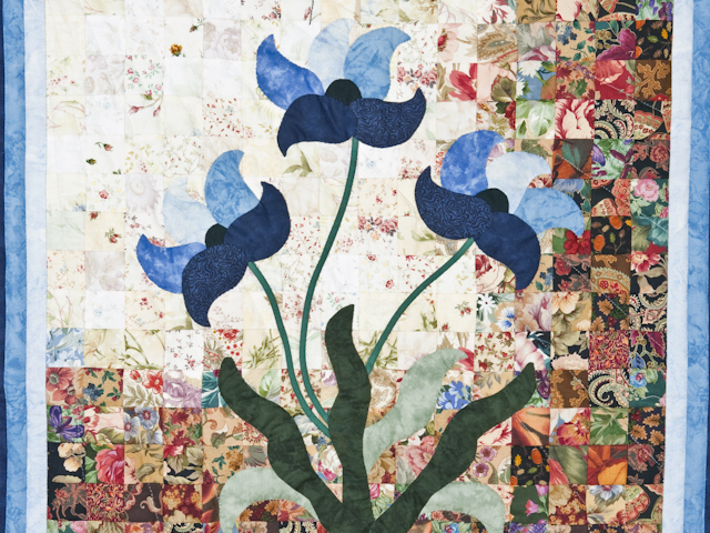 Morning Splendor Watercolor Wall Hanging Beautiful Blues Photo 3