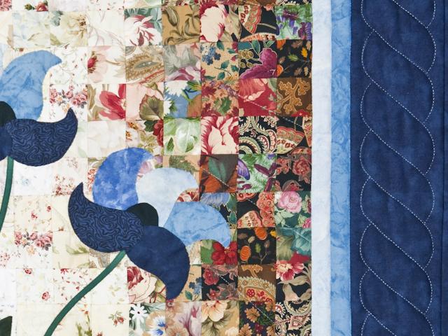 Morning Splendor Watercolor Wall Hanging Beautiful Blues Photo 4