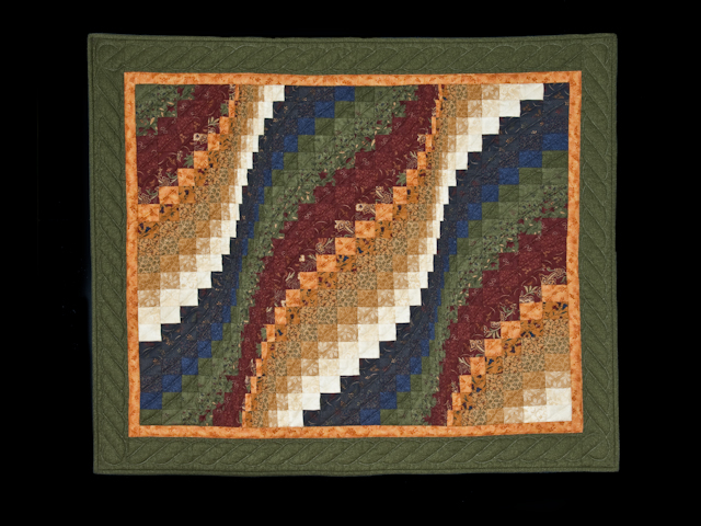 Green and Ivory Classic Bargello Wave Photo 1