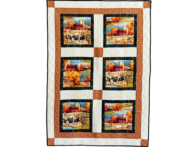 Country Farm Scene Quilt Photo 1