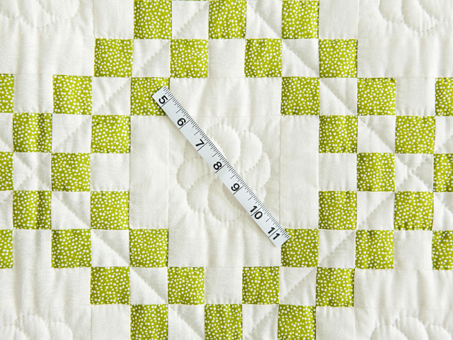 Spring Green and Cream Irish Chain Crib Quilt Photo 5