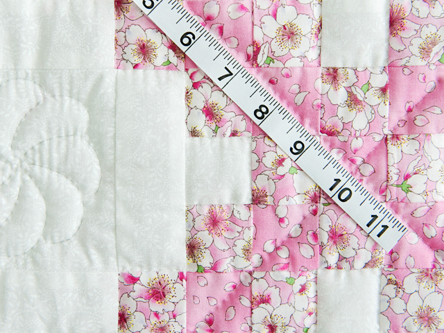 Perfect Pink Cherry Blossom Irish Chain Crib Quilt Photo 4