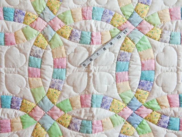 Pastel and Cream Wedding Ring Crib Quilt Photo 5