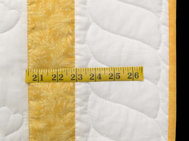 Yellow and Cream Lucky Ducks Crib Quilt Photo 5