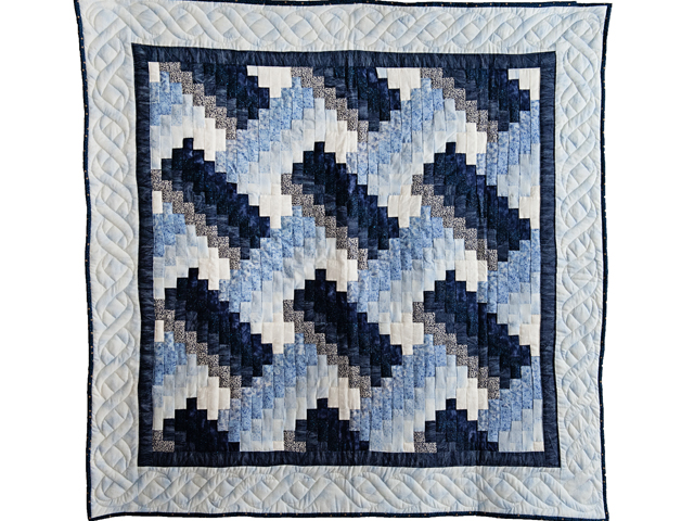 Navy and Blue Weaver Fever Quilt Photo 1
