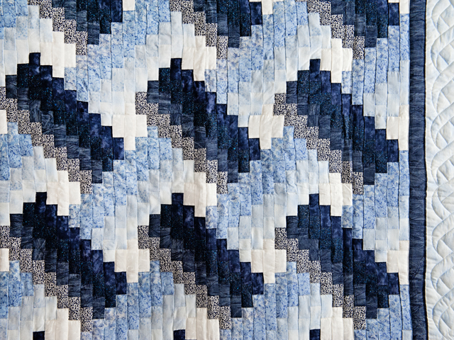 Navy and Blue Weaver Fever Quilt Photo 2