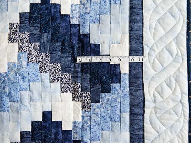 Navy and Blue Weaver Fever Quilt Photo 3