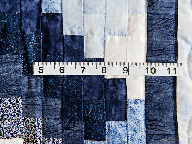 Navy and Blue Weaver Fever Quilt Photo 4