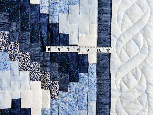 Navy and Blue Weaver Fever Quilt Photo 5