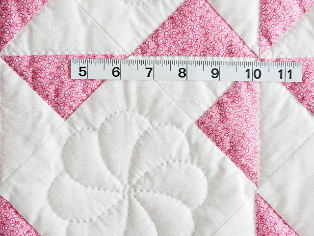 Princess Pink and White Pinwheel Crib Quilt Photo 4