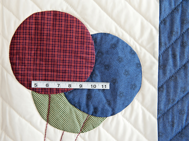 Charming Navy and Burgundy Party Bear Crib Quilt Photo 3
