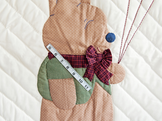 Charming Navy and Burgundy Party Bear Crib Quilt Photo 5
