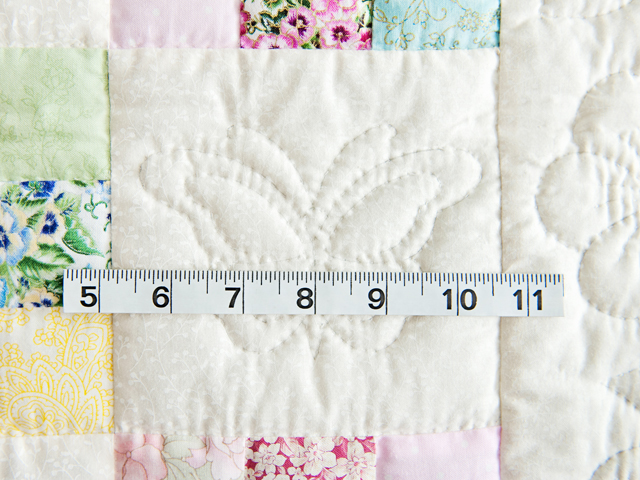 Pastel and Cream Butterfly Garden Nine Patch Crib Quilt Photo 5