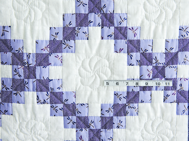 Lavender Dragonfly Irish Chain Crib Quilt Photo 5
