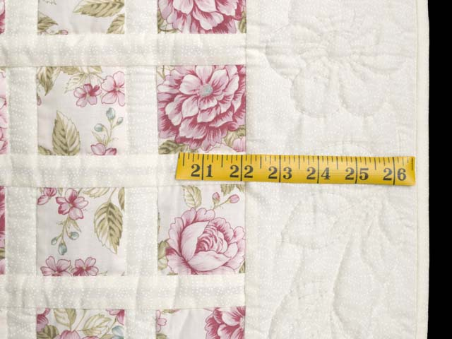 Rose Floral Delight Crib Quilt Photo 5