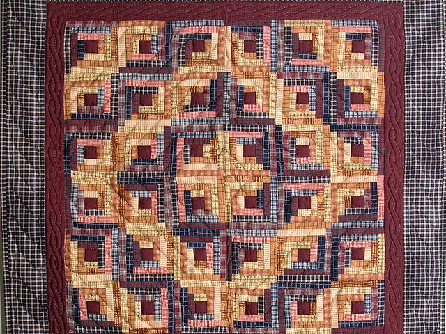 Plaid Mini Log Cabin Wall Hanging Photo 2