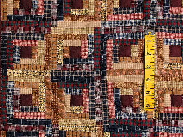 Plaid Mini Log Cabin Wall Hanging Photo 3