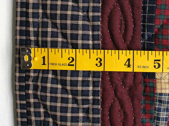 Plaid Mini Log Cabin Wall Hanging Photo 5
