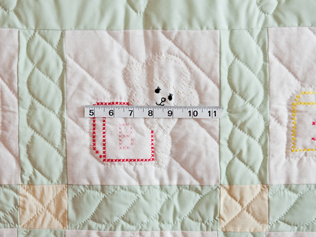 Embroidered Animals Crib Quilt Photo 5