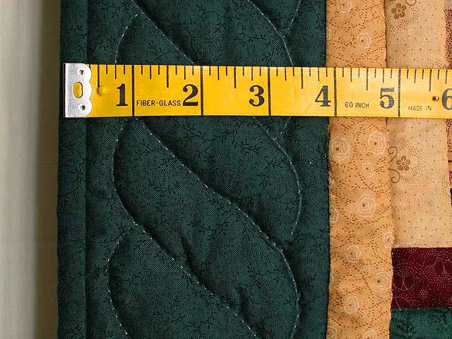 Green Tan and Multi Log Cabin Wall Hanging Photo 5