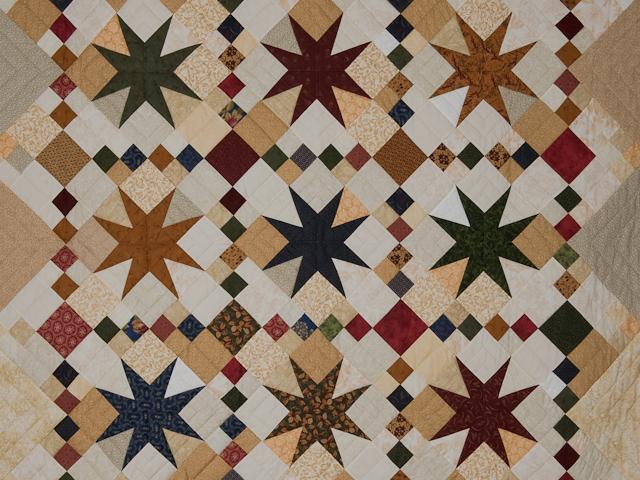 Stepping Thru the Stars Throw Size Country navy/tan/green/burgundy Photo 2