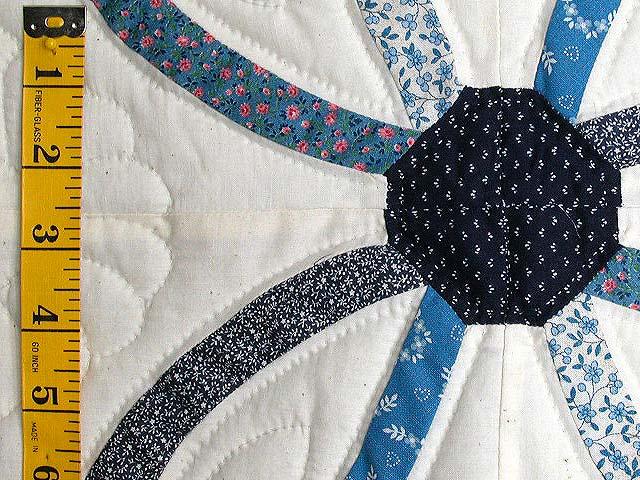 Blue Mini Wedding Rings Crib Quilt Photo 4