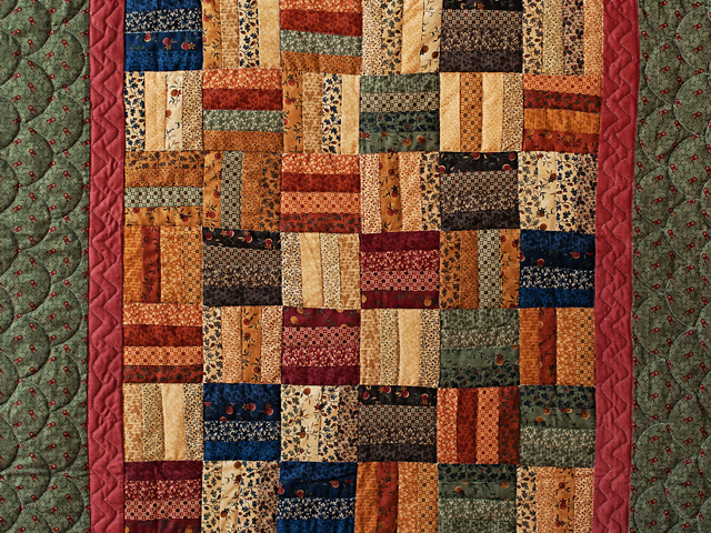 Antique Colors Fence Rail Quilt Photo 2