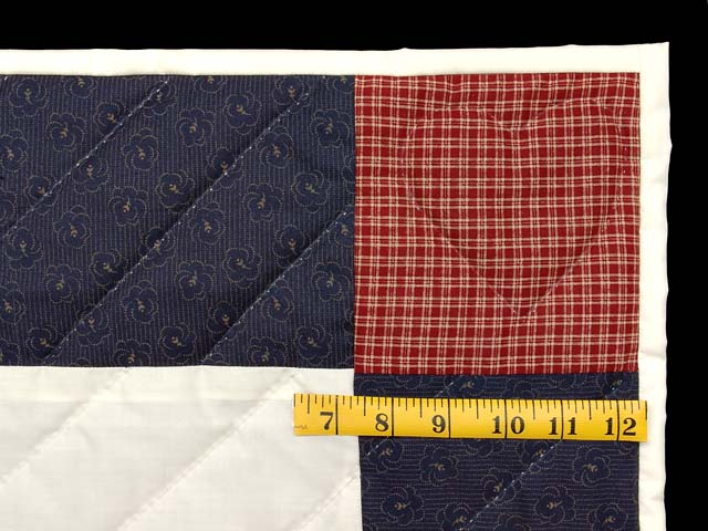 Navy and Red Thomas Train Crib Quilt Photo 5