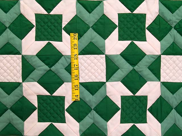Indiana Amish Green and Cream Metathesis Quilt Photo 3