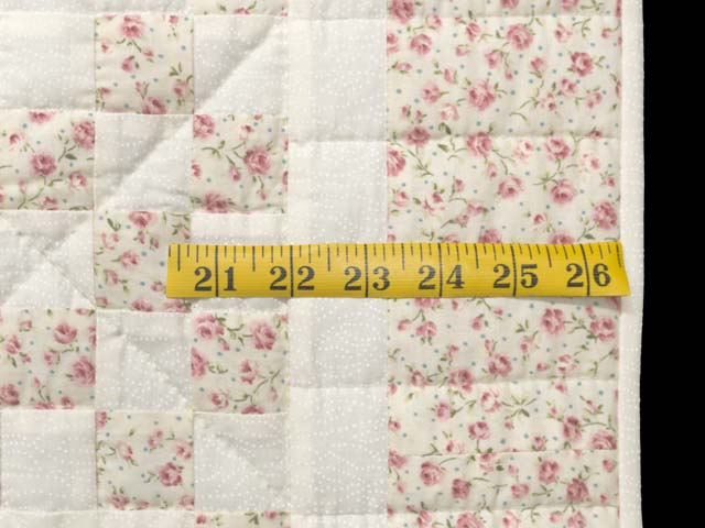 Dusty Rose and Cream Irish Chain Crib Quilt Photo 5