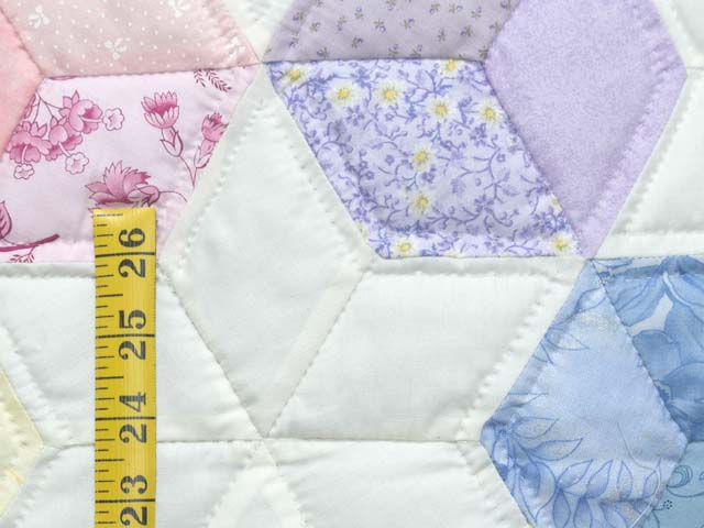 Green and Pastels Tumbling Blocks Crib Quilt Photo 4