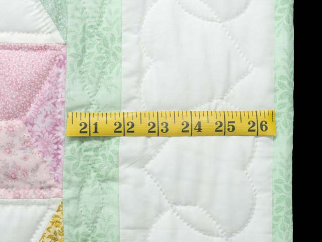 Green and Pastels Tumbling Blocks Crib Quilt Photo 6