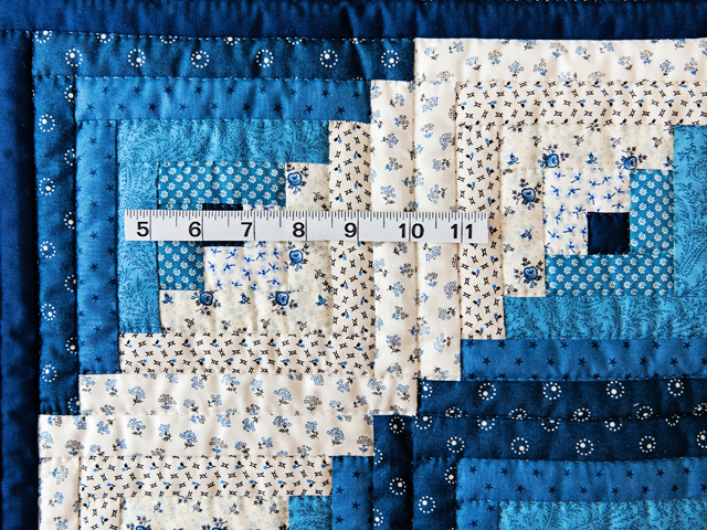 Navy and Blue Log Cabin Crib Quilt Photo 3