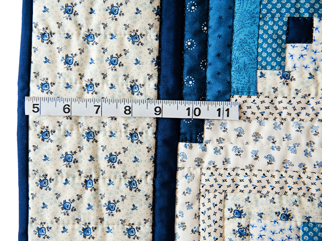 Navy and Blue Log Cabin Crib Quilt Photo 4