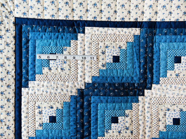 Navy and Blue Log Cabin Crib Quilt Photo 5