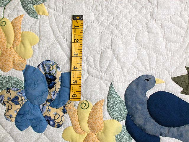 Blue and Yellow Vines and Roses Wall Hanging Photo 3