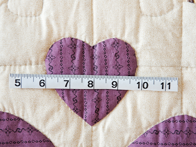 Plum Ocean Wave And Hearts Quilt Photo 4