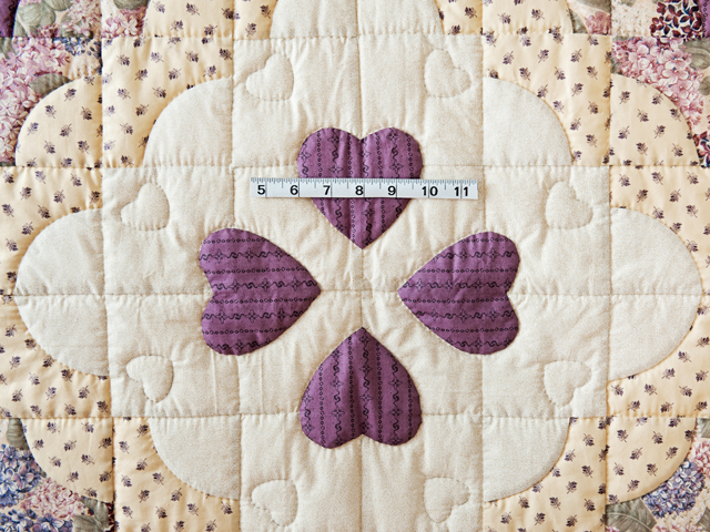 Plum Ocean Wave And Hearts Quilt Photo 5
