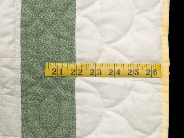 Green and Multicolor Floppy Eared Bunnies Crib Quilt Photo 5