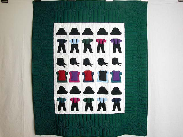 Amish Clothes Crib Quilt Photo 1