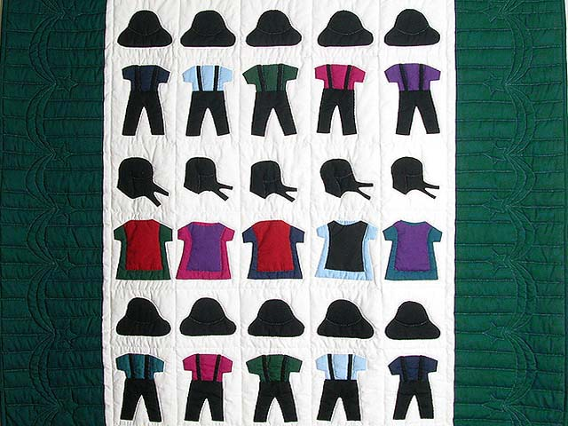 Amish Clothes Crib Quilt Photo 2
