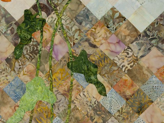 Sunflower Mountain - New Design Patchwork, Hand Applique, Hand Quilt Photo 3