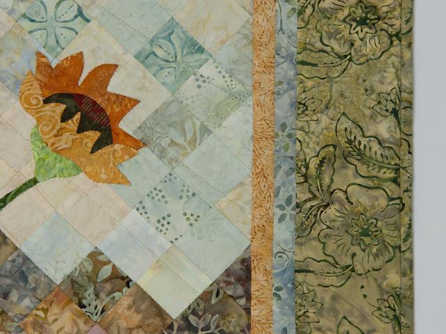 Sunflower Mountain - New Design Patchwork, Hand Applique, Hand Quilt Photo 5