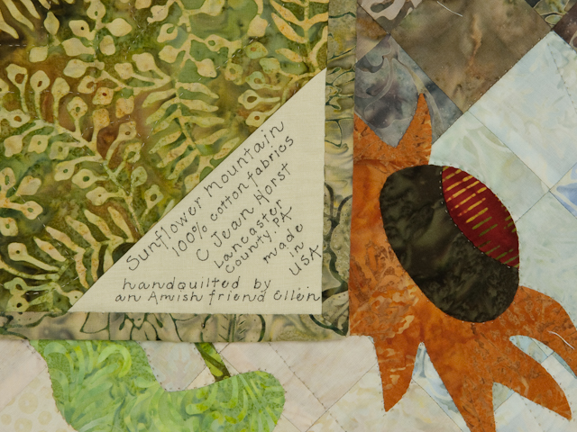Sunflower Mountain - New Design Patchwork, Hand Applique, Hand Quilt Photo 6