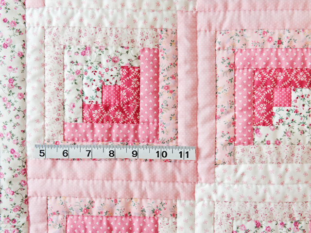 Pretty Pink Log Cabin Crib Quilt Photo 3