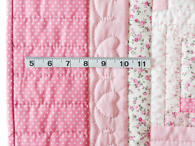 Pretty Pink Log Cabin Crib Quilt Photo 4