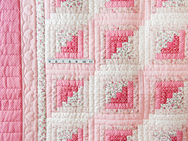 Pretty Pink Log Cabin Crib Quilt Photo 5