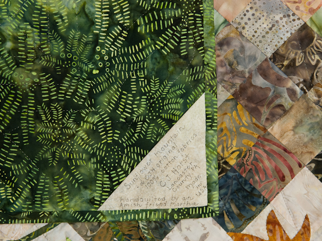Sunflower Mountain -  Patchwork/Applique and Quilting combination Photo 6
