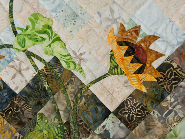 Sunflower Mountain -  Patchwork/Applique and Quilting combination Photo 7